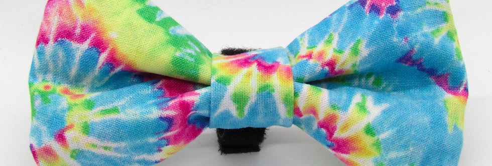 Pastel Tie Dye Dog Bow Tie