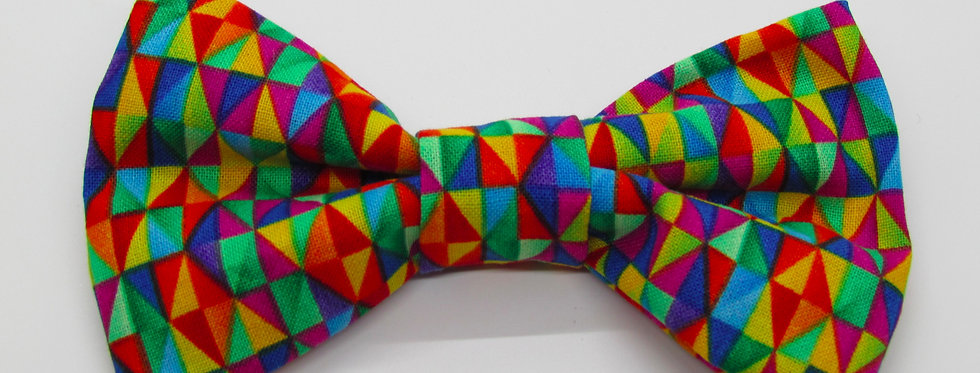 Kaleidoscope Dog Bow Tie