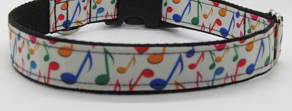 Music Notes Dog Collar