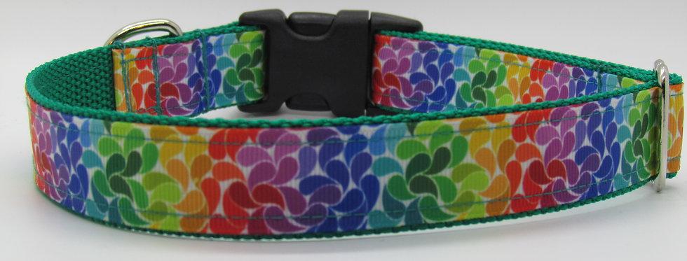 Colorful Print Dog Collar