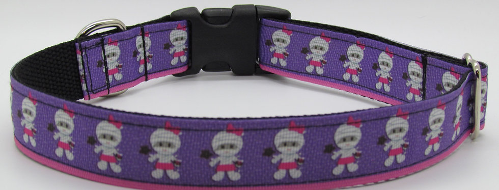 Halloween Mummies Dog Collar