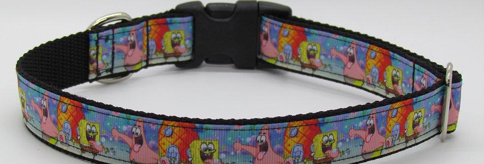 Spongebob Inspired Dog Collar