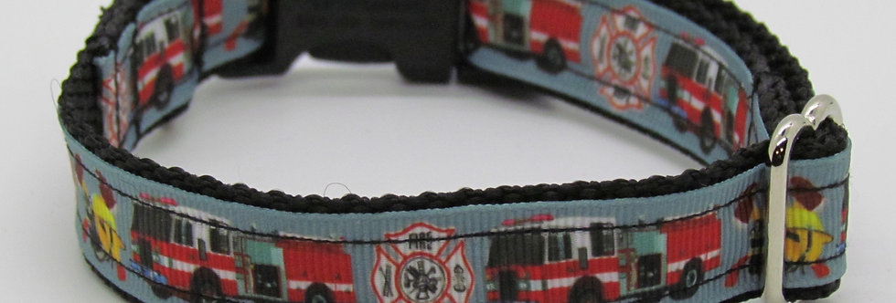 Small Firetrucks Dog Collar