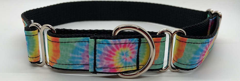 Tie Dye (Pastel) Martingale Dog Collar