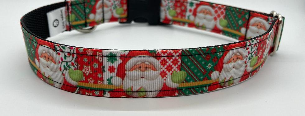 Santa Claus Christmas Dog Collar