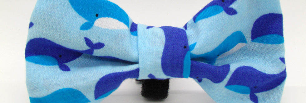 Whales Dog Bow Tie