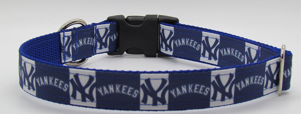 NY Yankees (Blue) Inspired Dog Collar