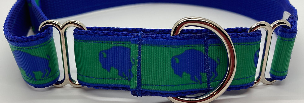 Exclusive Doggie Stylz Buffaloes (Green) Martingale Dog Collar