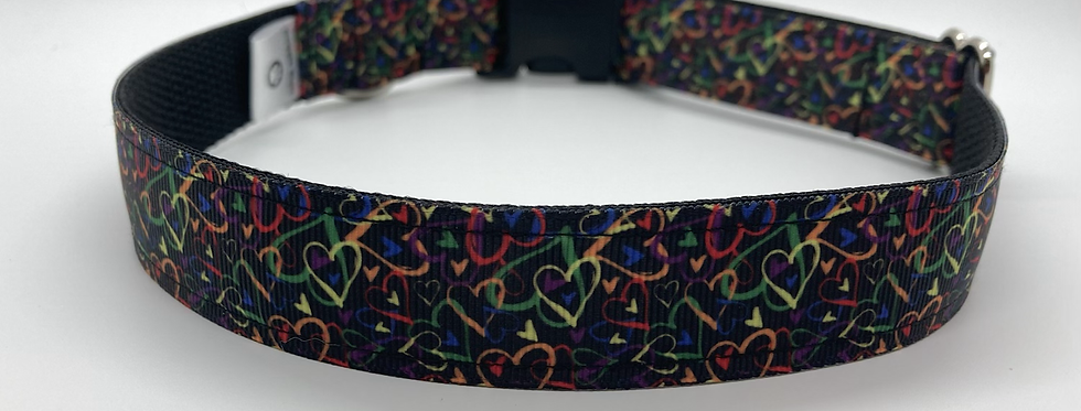 Confetti Hearts Dog Collar