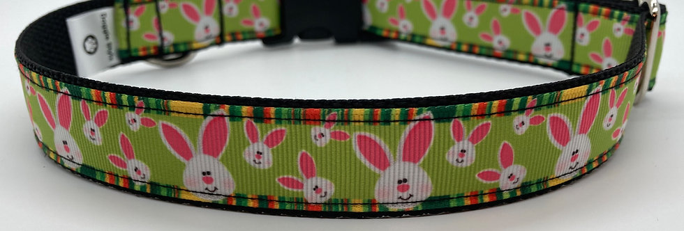Easter Bunny Faces Dog Collar