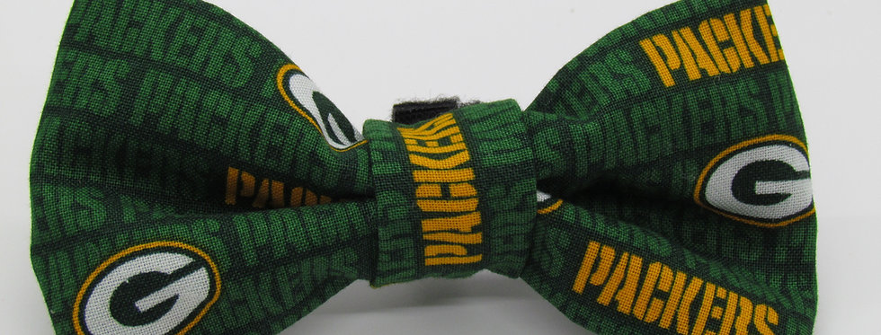 Green Bay Packers Inspired Dog Bow Tie
