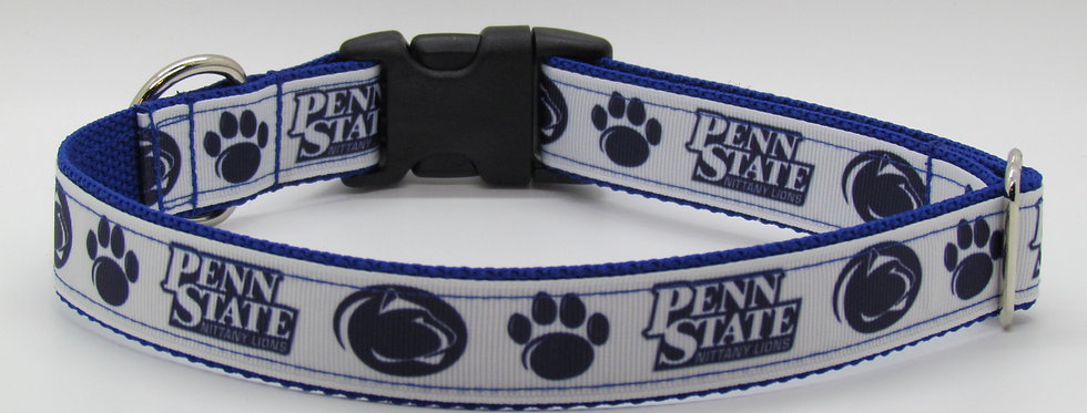 Penn State (White) Inspired Dog Collar
