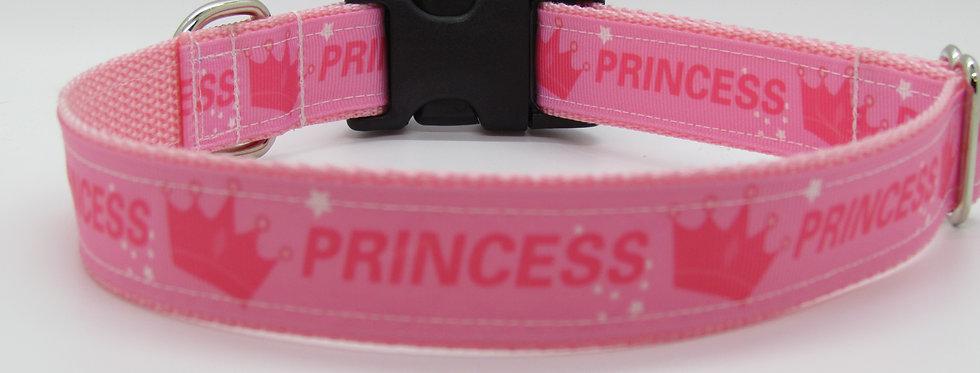 Pink Princess Dog Collar