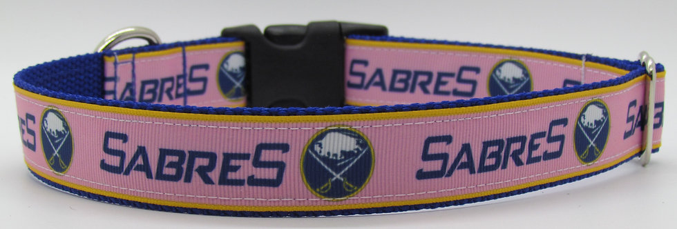 Pink Buffalo Sabres Inspired Dog Collar