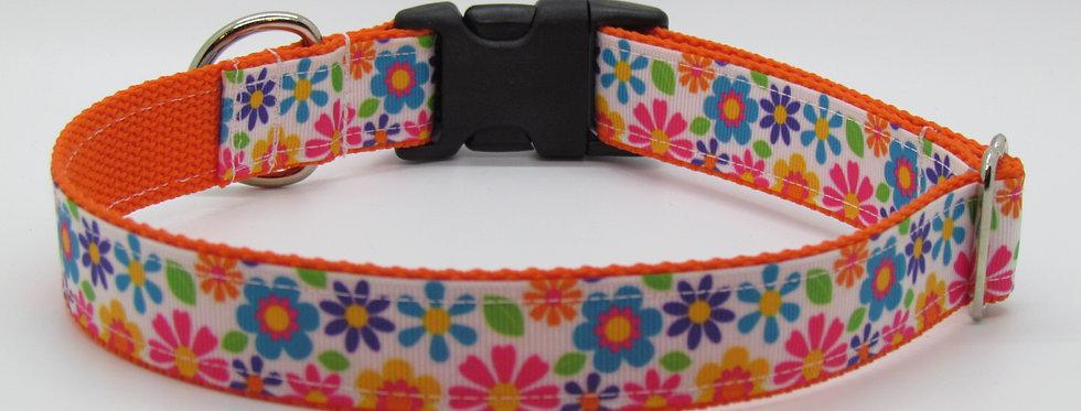 Bright Flowers Dog Collar