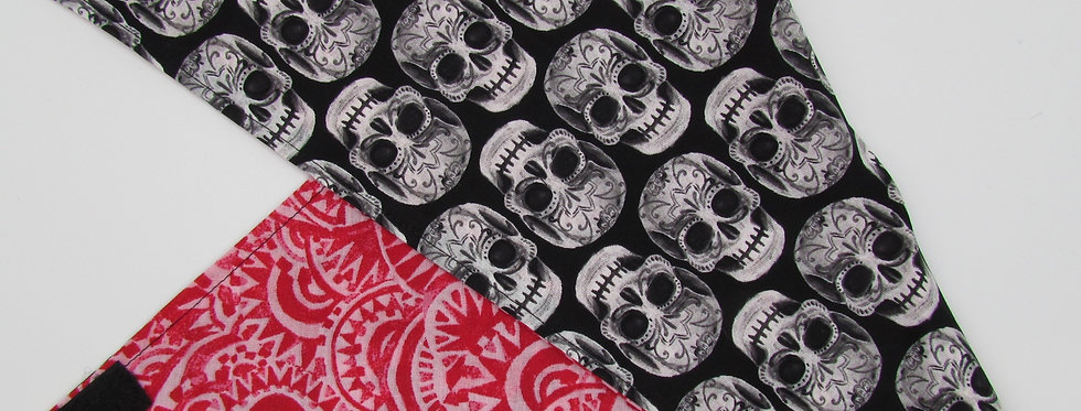 Creepy Skulls Reversible Dog Bandana