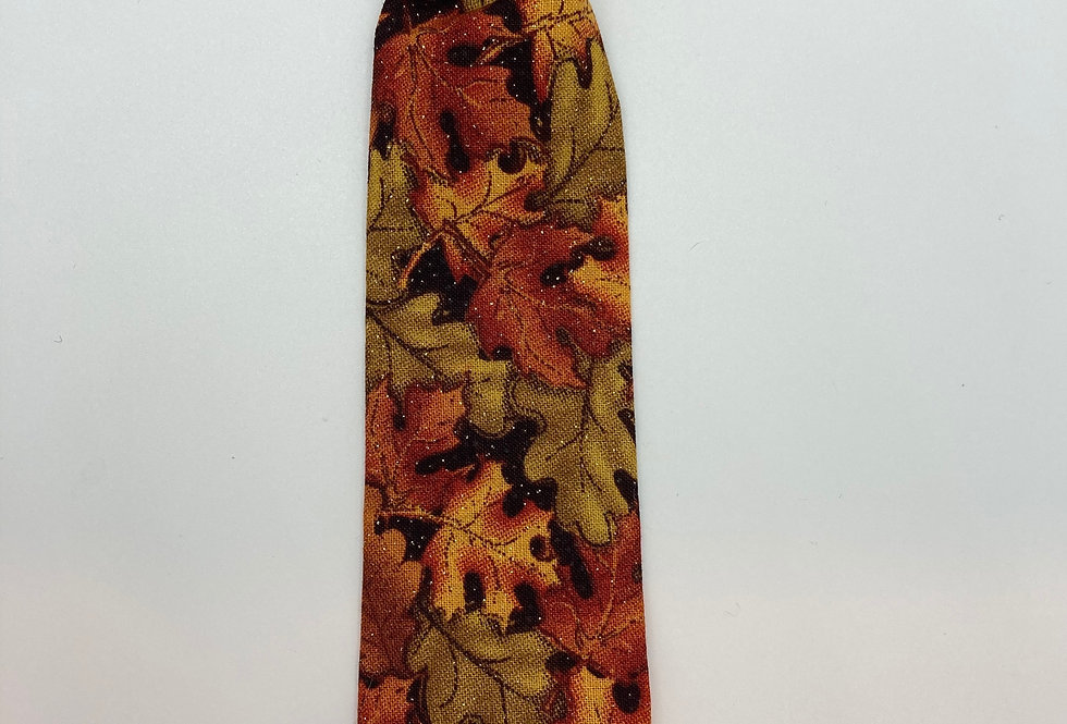 Fall Sparkly Leaves Dog Neck Tie