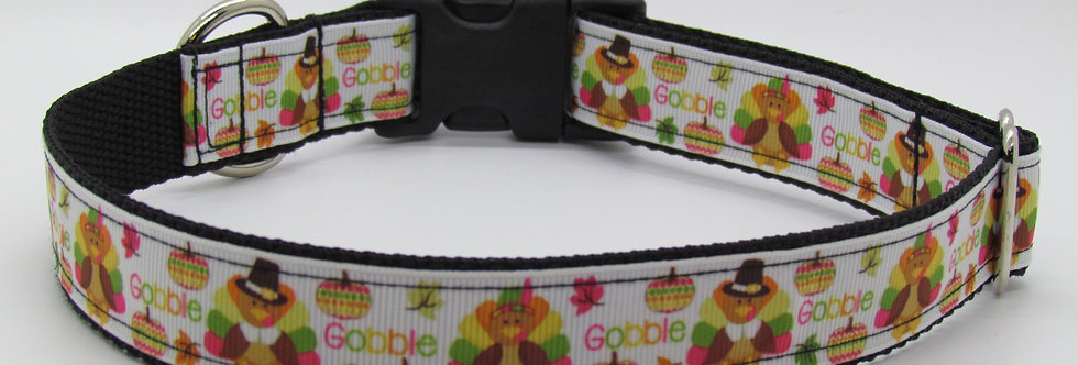 Gobble Thanksgiving Dog Collar