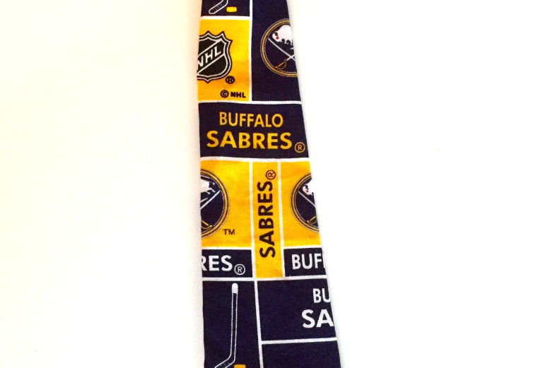 Buffalo Sabres Inspired Dog Neck Tie