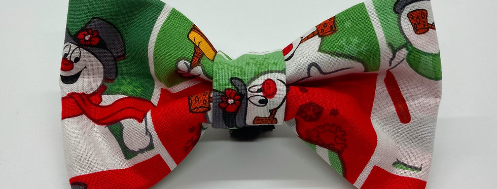 Holiday Frosty the Snowman Inspired Dog Bow Tie