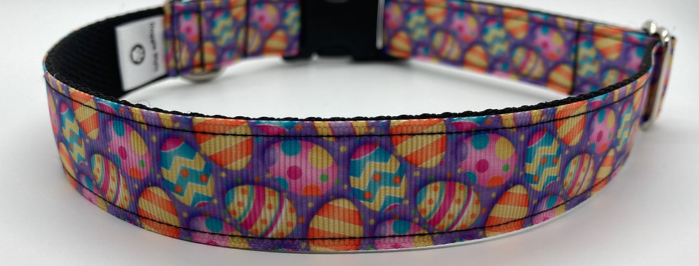 Easter Eggs (Purple) Dog Collar