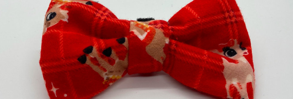 Holiday Clarice Rudolph Dog Bow Tie
