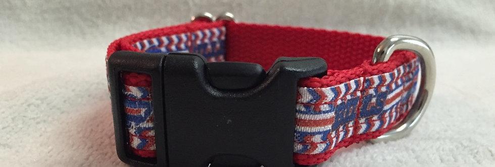 Small Buffalo Bills Inspired Dog Collar