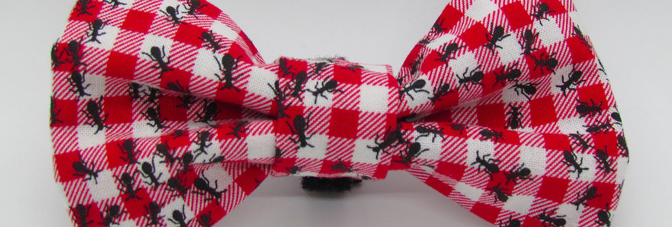 Picnic Ants Dog Bow Tie