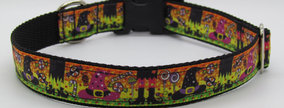 Halloween Witch's Feet Dog Collar