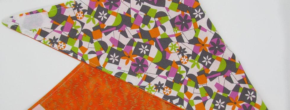 Daisy Print Reversible Dog Bandana