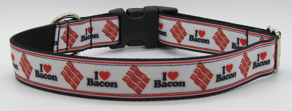 I Love Bacon Dog Collar