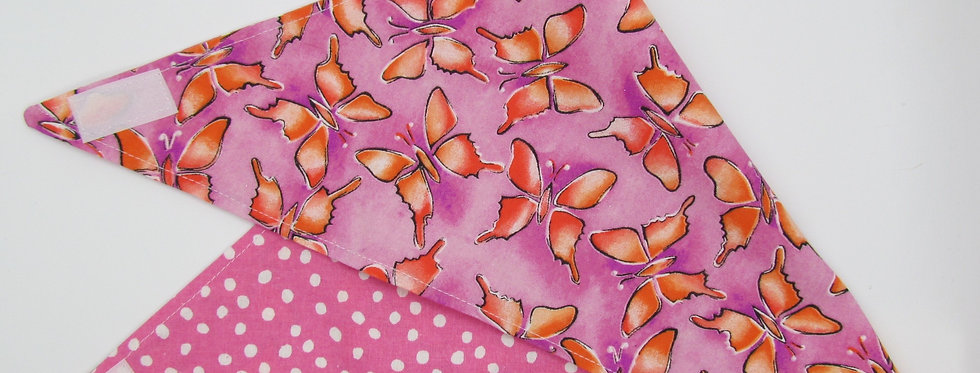 Butterflies Reversible Dog Bandana