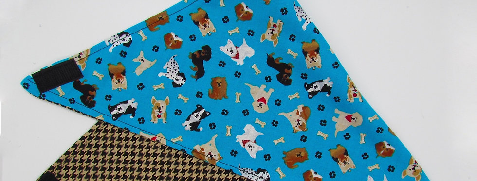Dogs (Houndstooth) Reversible Dog Bandana