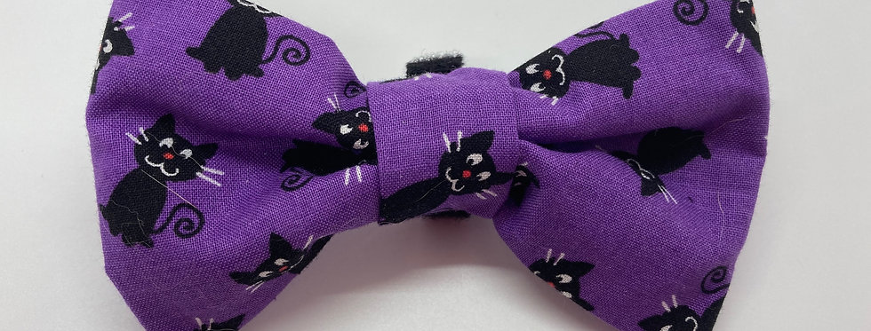 Halloween Black Cats Dog Bow Tie