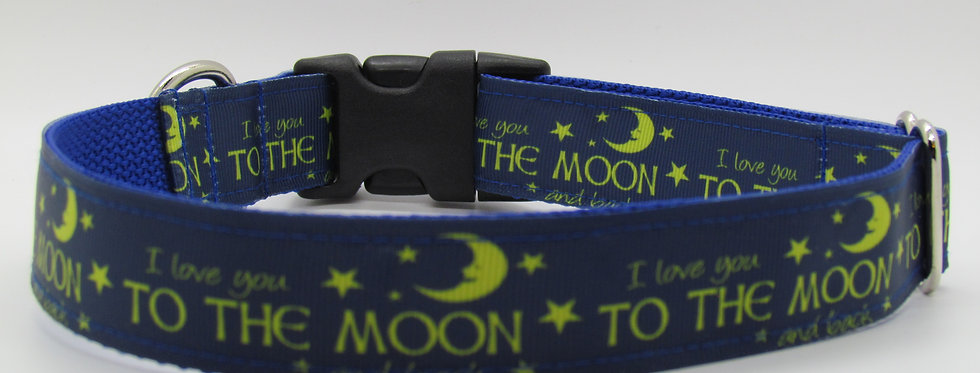 """I Love You to the Moon"" Dog Collar"