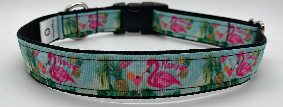 Flamingo (Blue) Dog Collar
