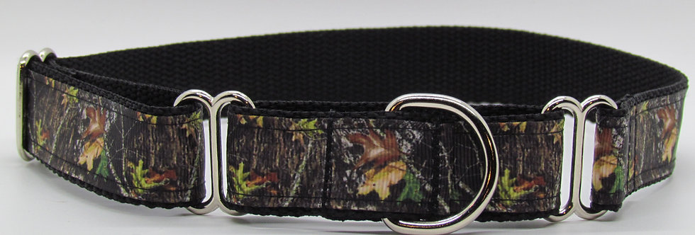 Tree Camouflage Martingale Dog Collar