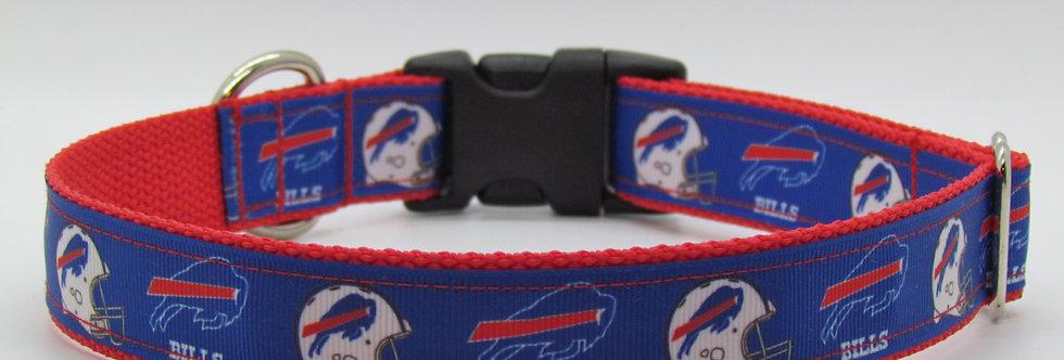 Blue Buffalo Bills Inspired Dog Collar