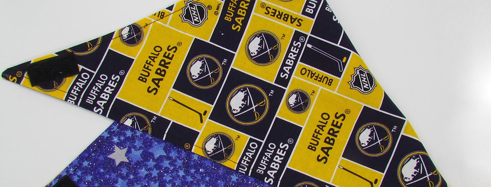 Buffalo Sabres Inspired (Stars) Reversible Dog Bandana