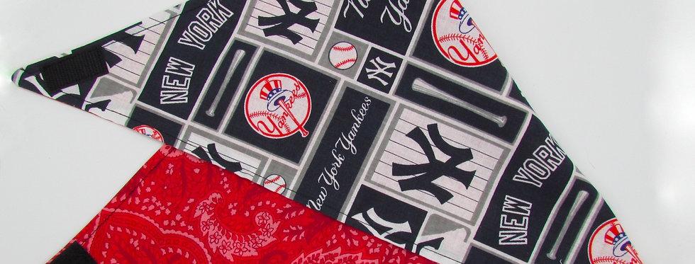 New York Yankees Inspired (Paisley) Reversible Dog Bandana