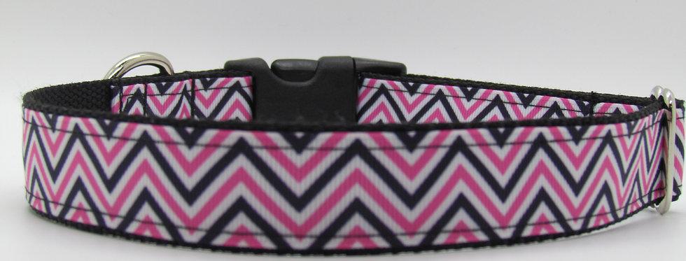 Pink Chevron Dog Collar