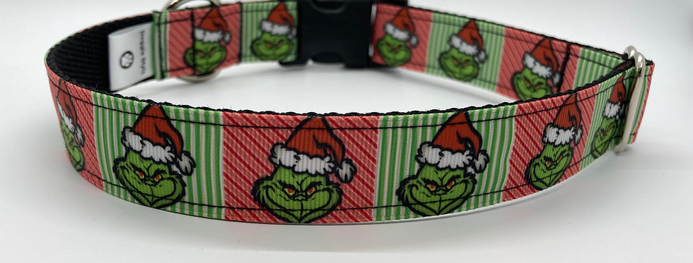 The Grinch (Striped) Inspired Christmas Dog Collar