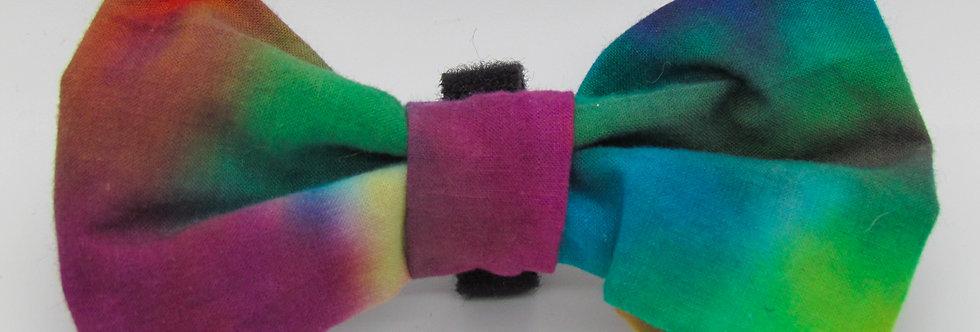 Colorwash Tie Dye Dog Bow Tie