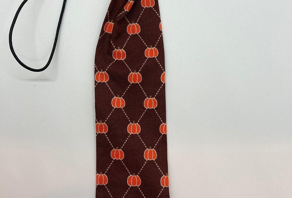Halloween Fall (Brown) Pumpkins Dog Neck Tie
