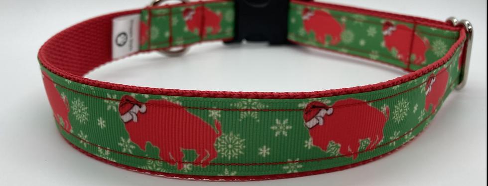 Exclusive Original Doggie Stylz Christmas Buffaloes Dog Collar