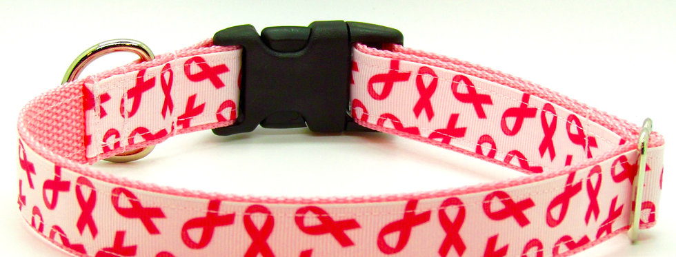 Breast Cancer Awarenss Dog Collar