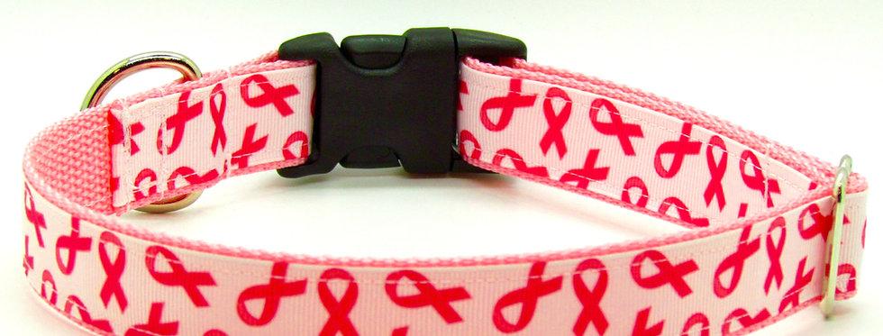 Breast Cancer Awarenss Dog Collar
