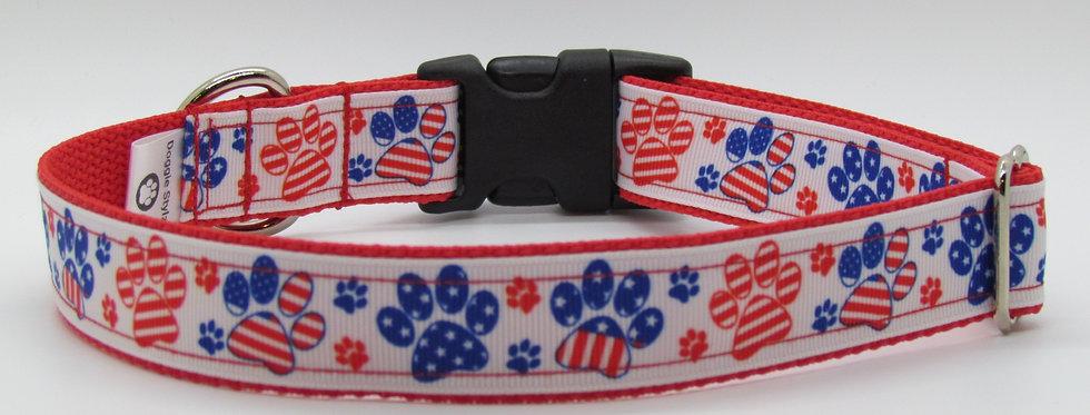 Patriotic Paws Dog Collar