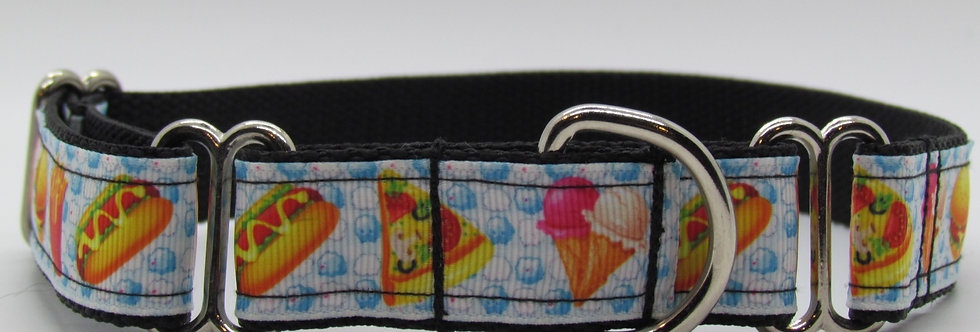 Fast Food Martingale Dog Collar