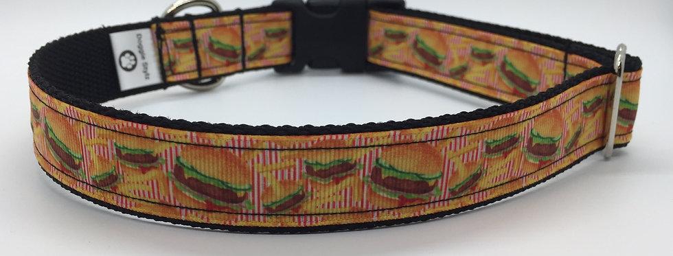 Cheeseburger Dog Collar